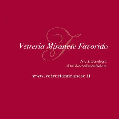 Progettazione logo e immagine coordinata Vetreria Miranese Favorido